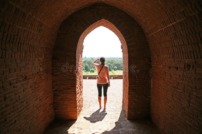 Bagan temple view royalty free stock photo