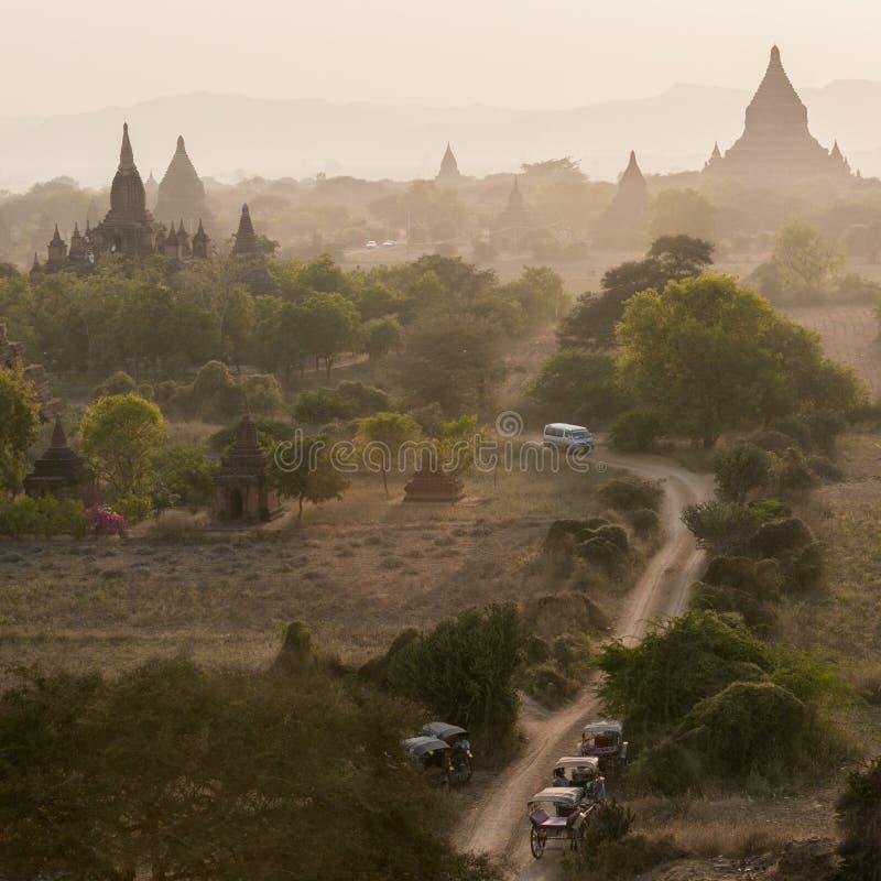 Bagan, una città di mille tempie fotografia stock libera da diritti