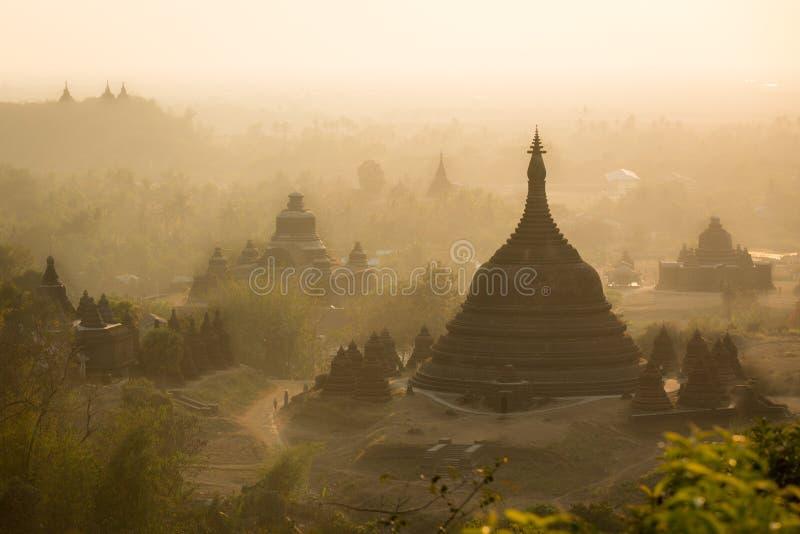Bagan, una città di mille tempie immagini stock libere da diritti