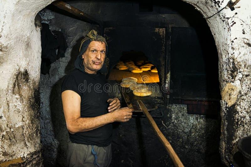 Bagare i Fez medina arkivbild