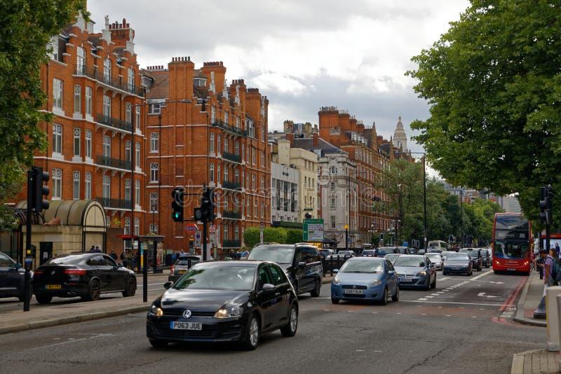 Bagare Street i London circa 2017 royaltyfria bilder
