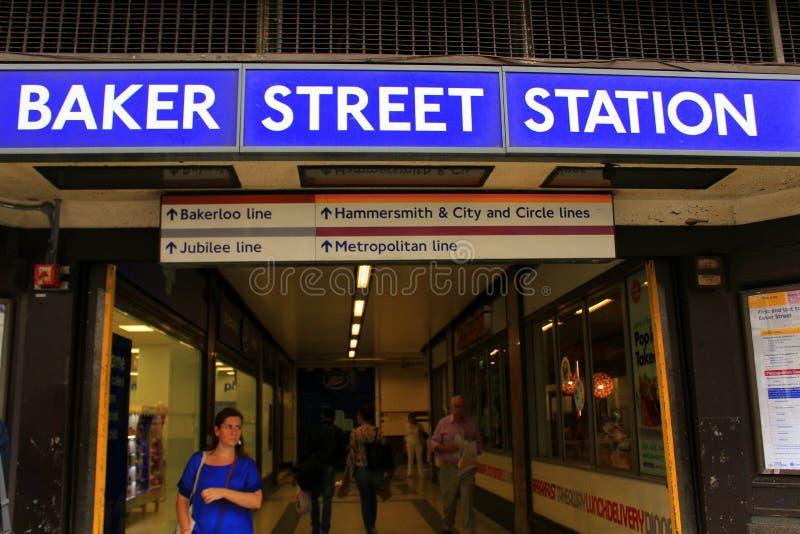 Bagare Street Underground Station London Egland royaltyfri fotografi