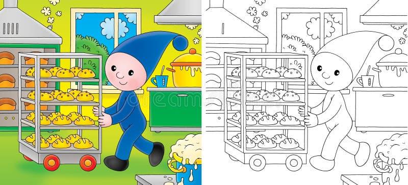 bagaregnome little stock illustrationer