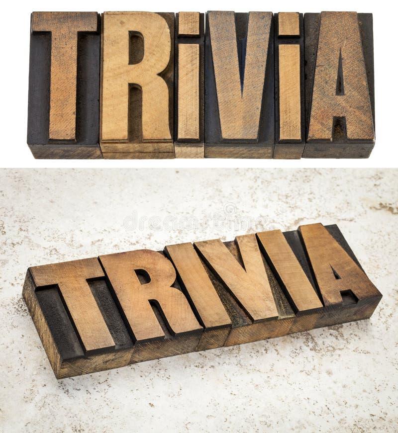 Bagatellenwoord in houten type stock fotografie