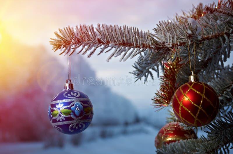 Bagattella luminosa di Natale fotografia stock