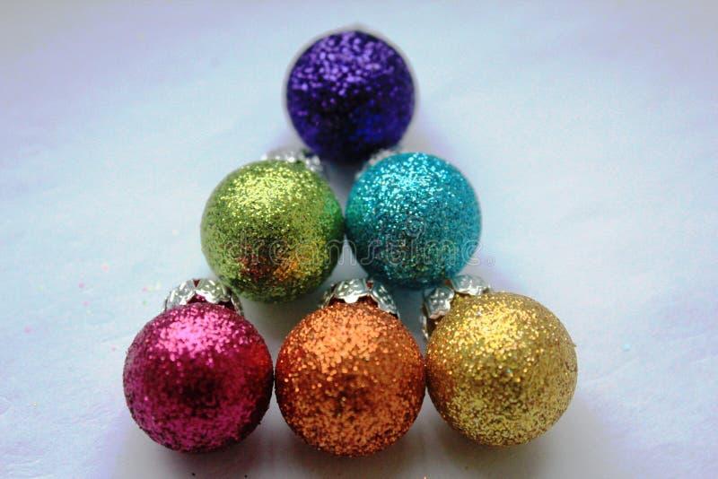 Bagattelle brillanti Colourful di Natale fotografia stock