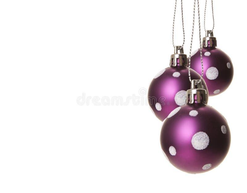 Bagattelle di Natale porpora fotografia stock