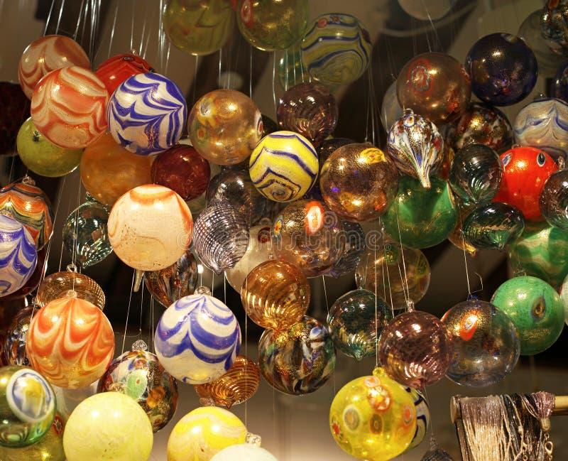 Bagattelle di vetro di Murano fotografia stock