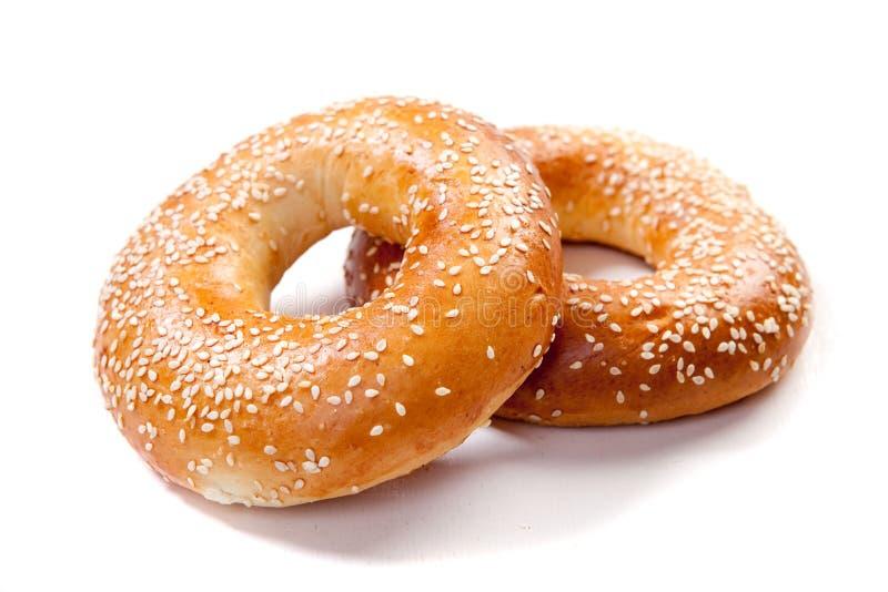 bagel δαχτυλίδι στοκ εικόνα με δικαίωμα ελεύθερης χρήσης
