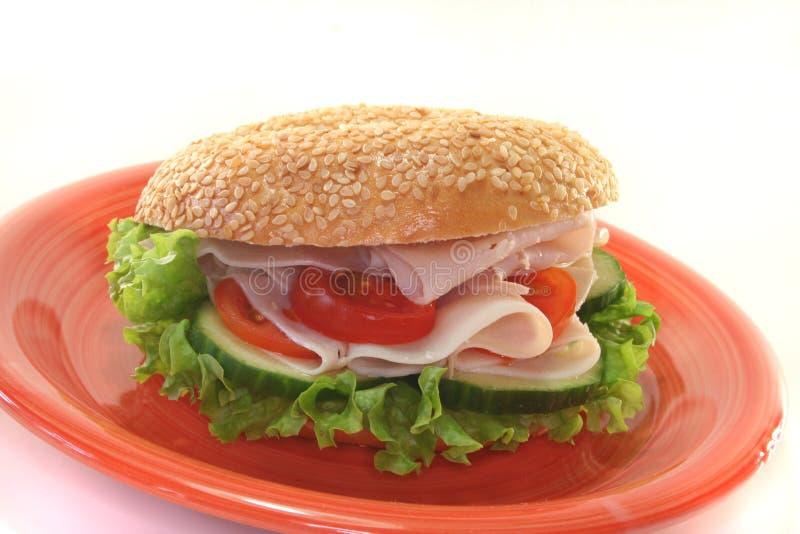 bagel κοτόπουλο στηθών στοκ εικόνες με δικαίωμα ελεύθερης χρήσης