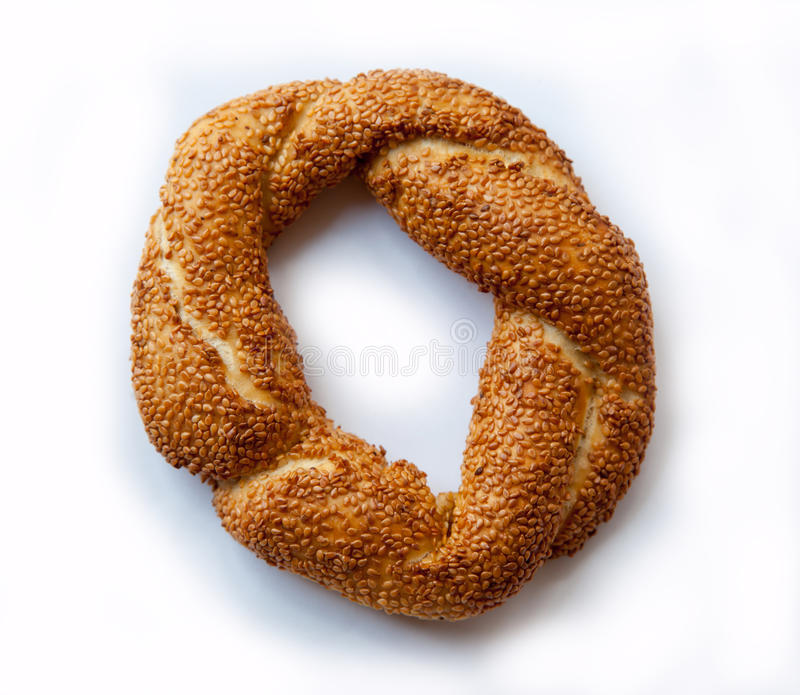 bagel σουσάμι σπόρων στοκ εικόνες