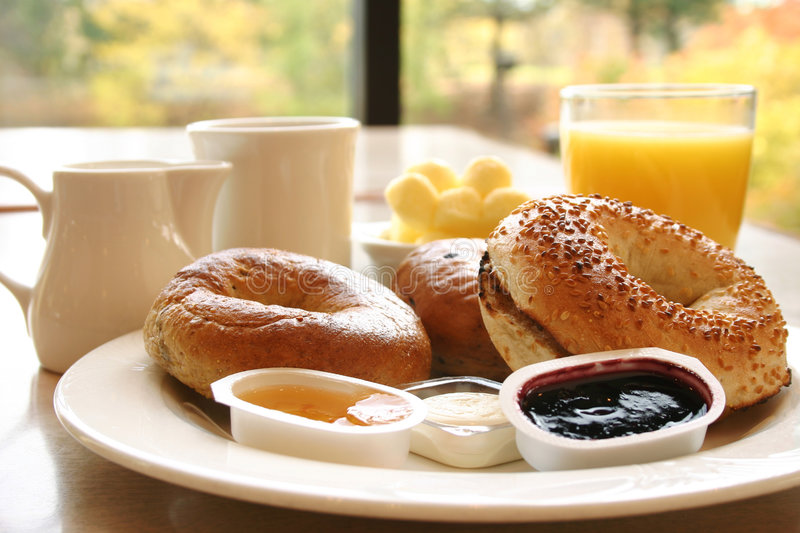 Bagel Breakfast Royalty Free Stock Photography