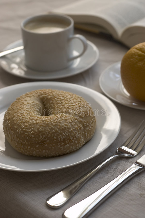Download Bagel for breakfast stock image. Image of food, wake, fruit - 206435