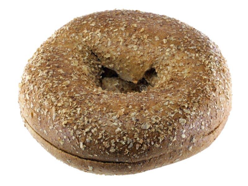 Bagel de blé entier photographie stock libre de droits