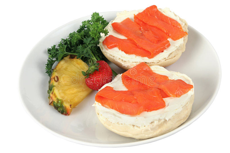 Bagel & Lox Isolated stock photography
