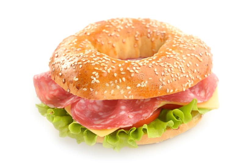 Bagel sandwich royalty free stock image
