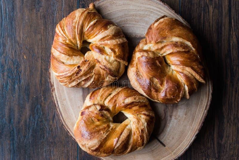 Bagel turco Acma/croissant fotografie stock libere da diritti