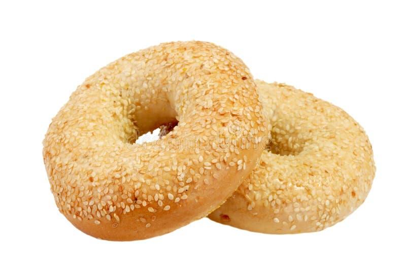 bagels δύο στοκ εικόνες