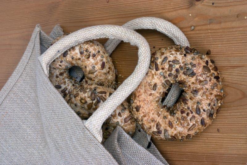 bagels мешка стоковые фото