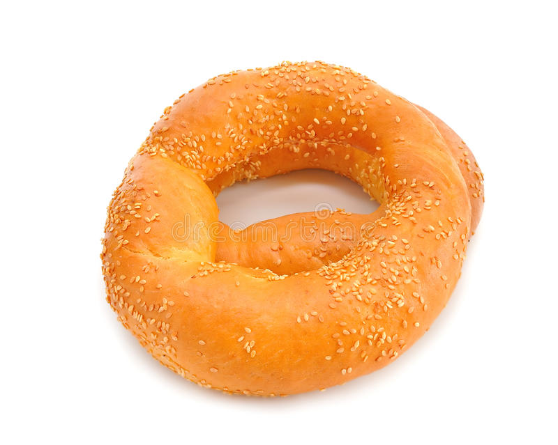 Bagels. On a white background royalty free stock photography