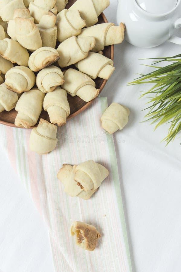 Bagels avec du lait condensé bouilli photo libre de droits