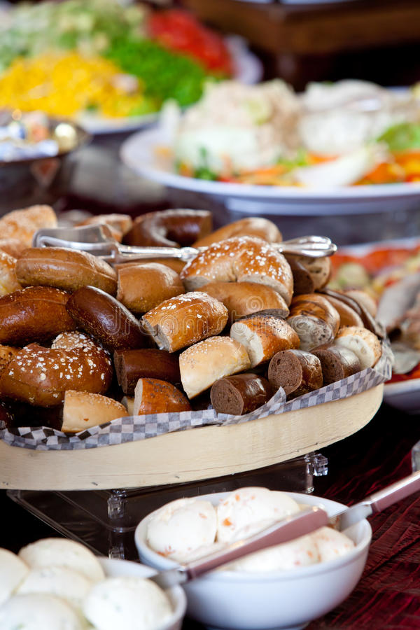 Bagels During A Catered Event Stock Photos