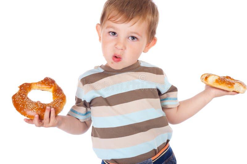 bagels chłopiec trochę dwa zdjęcie royalty free