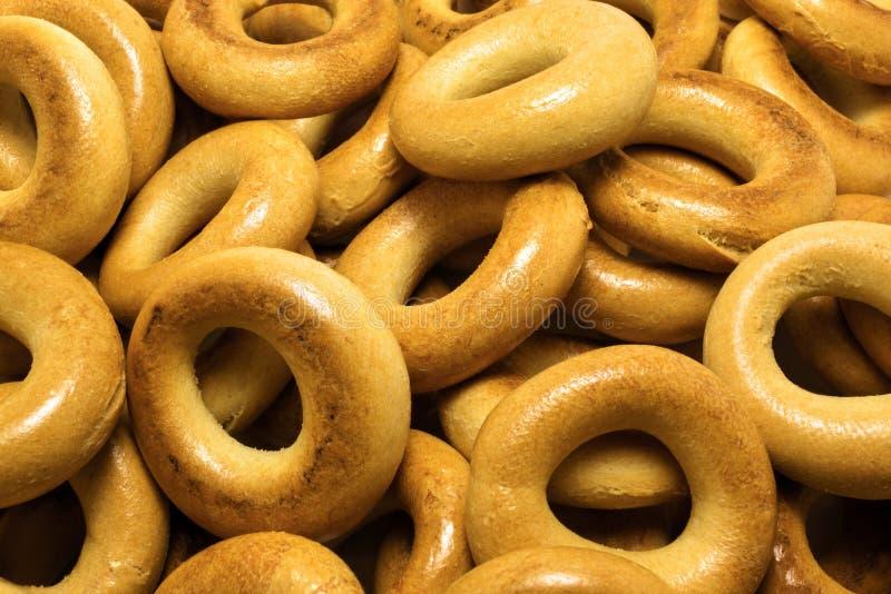 Bagels délicieux attrayants de placer de plan rapproché images libres de droits