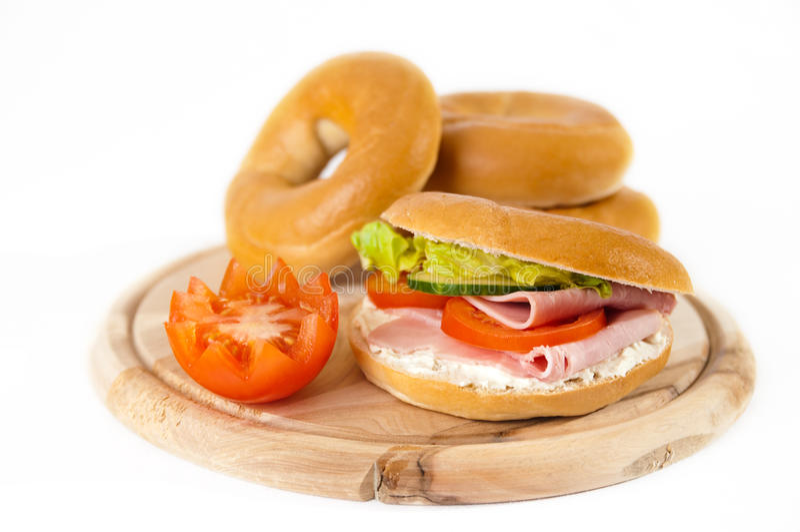 Bagels de déjeuner photographie stock