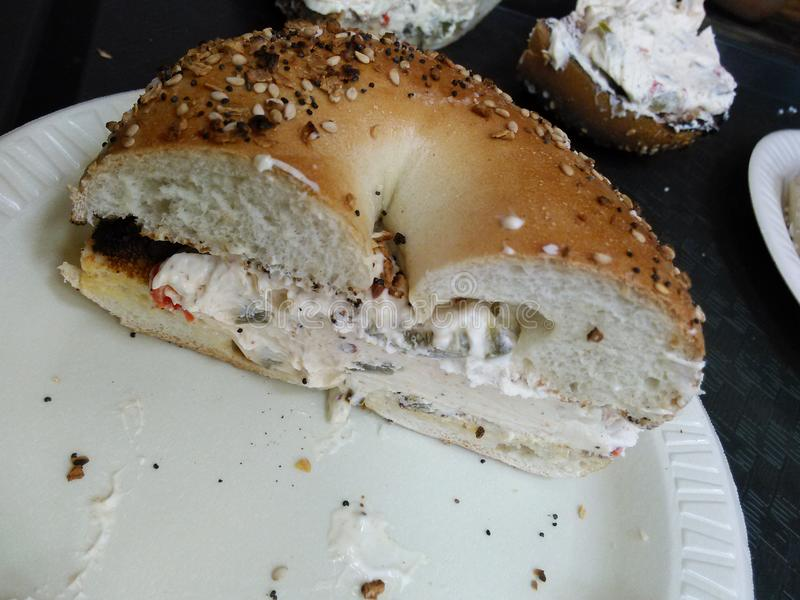 Bagels de New York imagem de stock