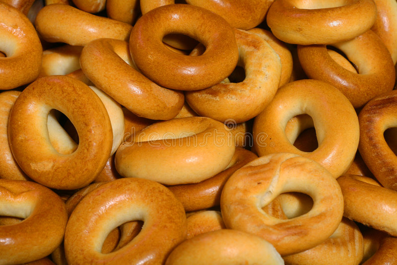 Bagels dourados. foto de stock royalty free