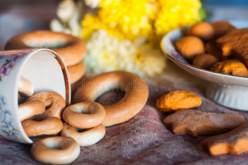 Bagels et biscuits photos libres de droits