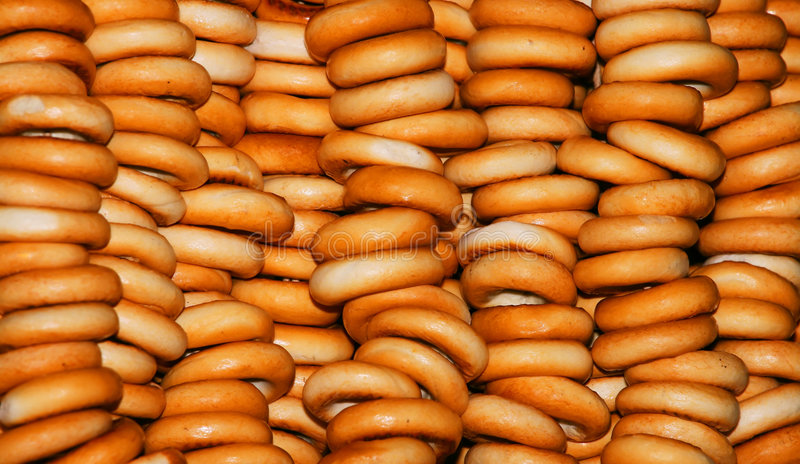 Bagels wall. stock photography