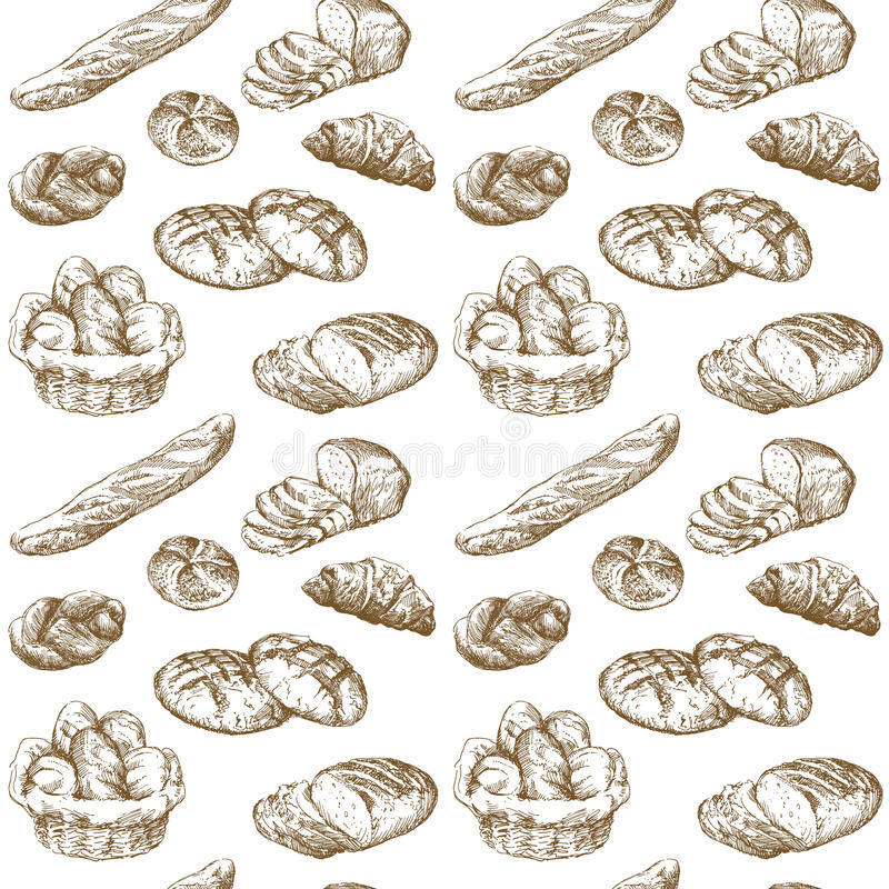 bageri vektor illustrationer