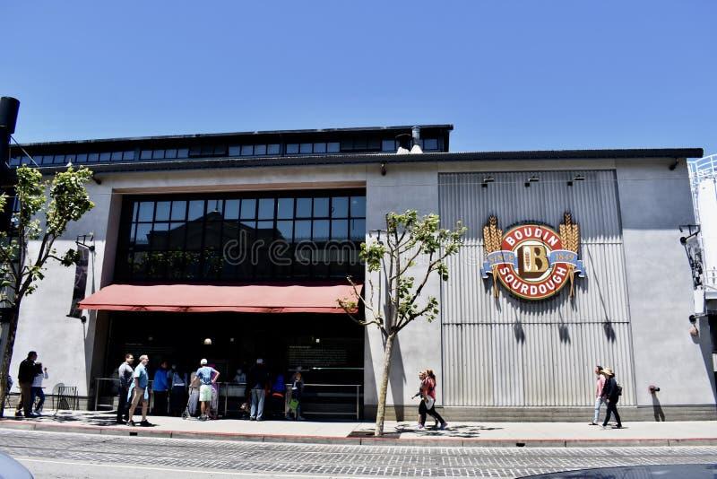 Bageri för bröd för sourdough för San Francisco ` s Boudine, 1 royaltyfria bilder