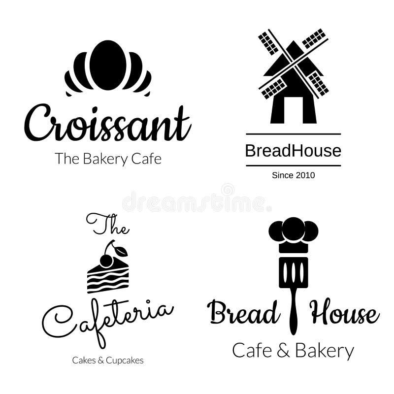 Bageri Logo Set vektor illustrationer