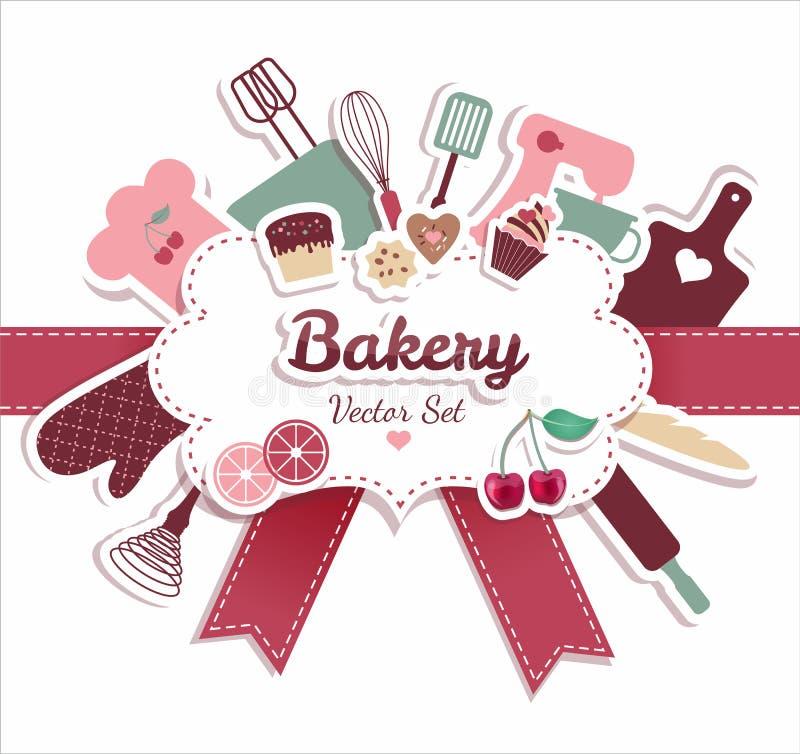 Bageri och sött royaltyfri illustrationer