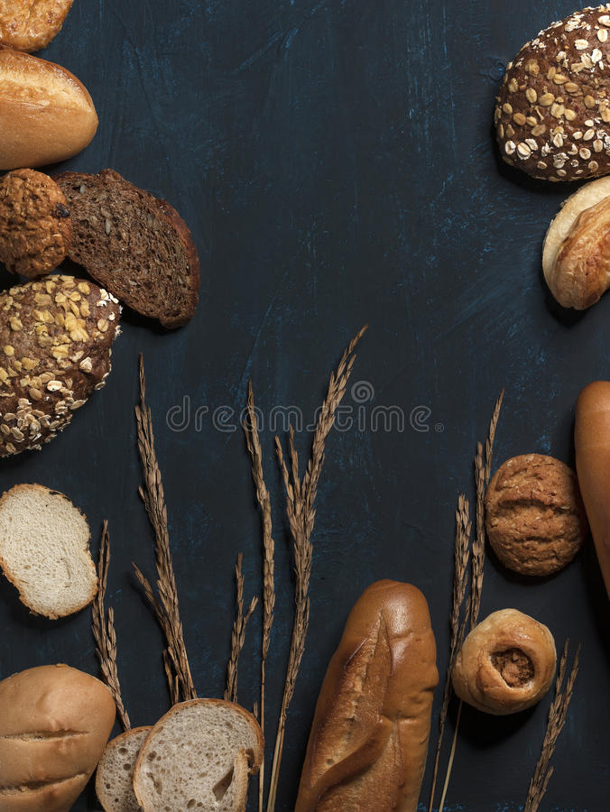 Bageri som utformar sund mat royaltyfri foto
