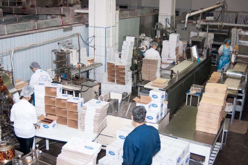 Bagerifabrik fotografering för bildbyråer