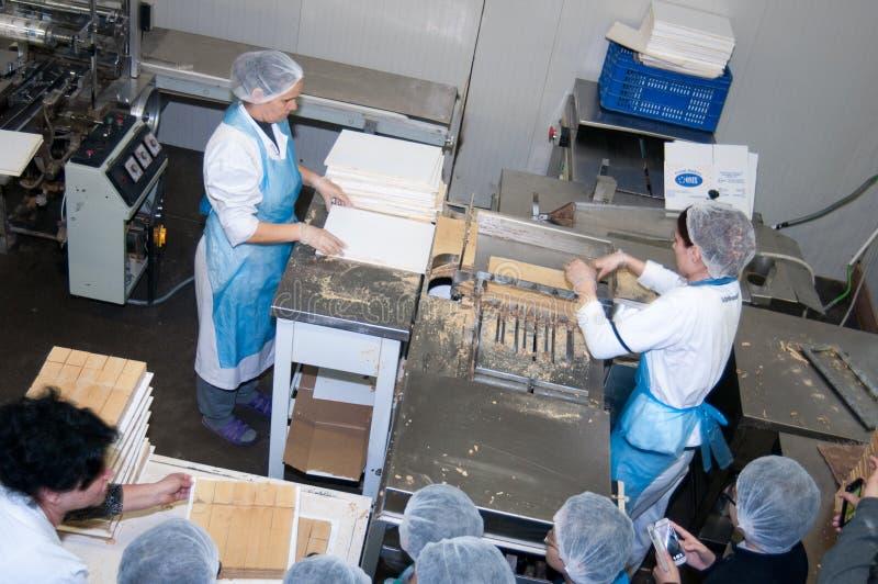 Bagerifabrik arkivfoto