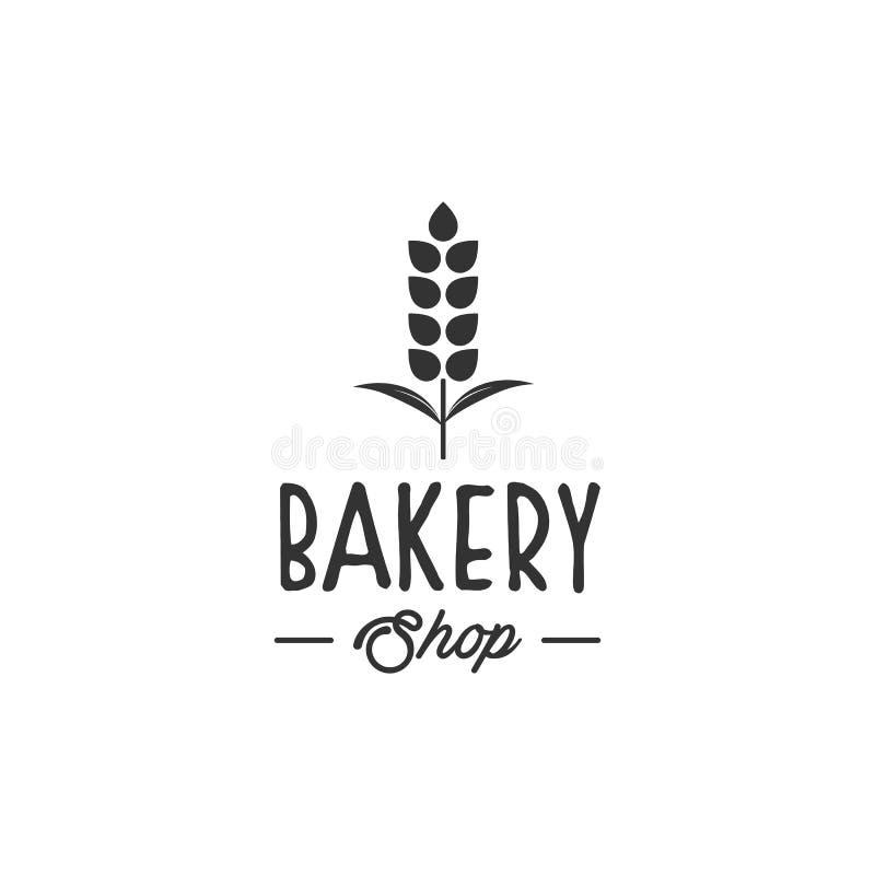 Bagerilogodesigner, modern logotyp stock illustrationer