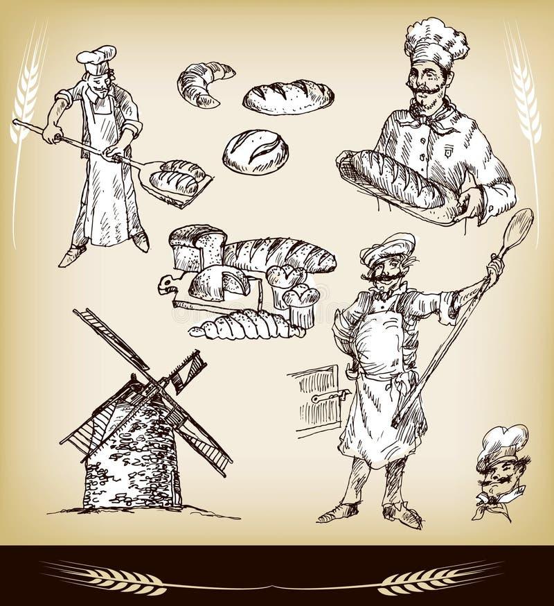 bageriset stock illustrationer
