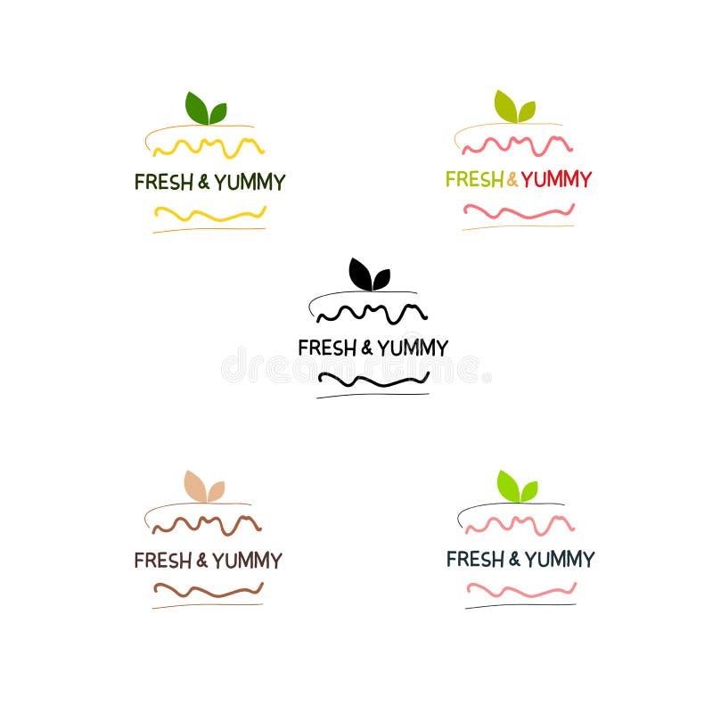 Bagerit bakelse, sötsak shoppar, confectionerry, kakan, emblem för efterrättlogovektor vektor illustrationer