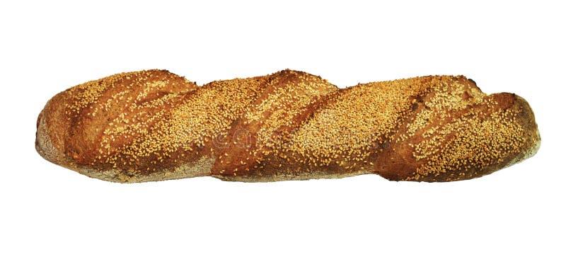 bagetten kärnar ur sesam royaltyfri bild