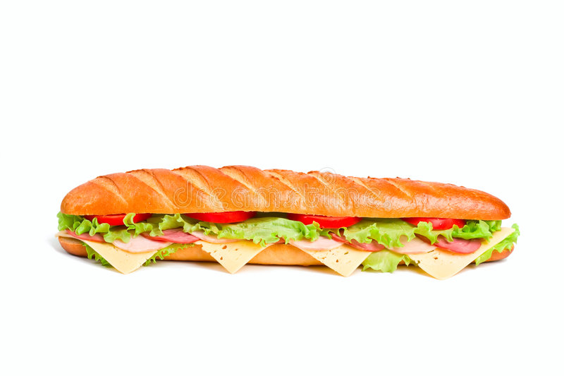 bagettsmörgås arkivbild