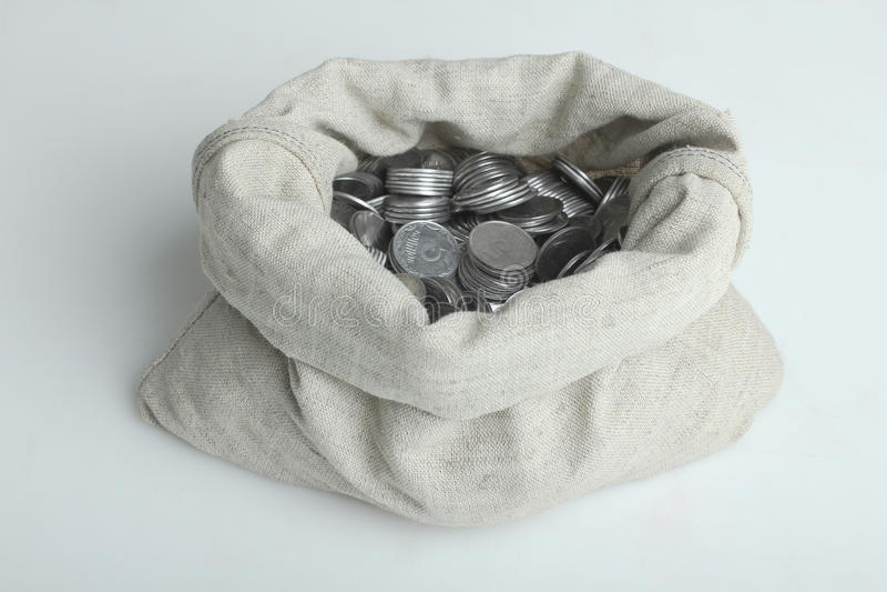 Bagful con el dinero imágenes de archivo libres de regalías