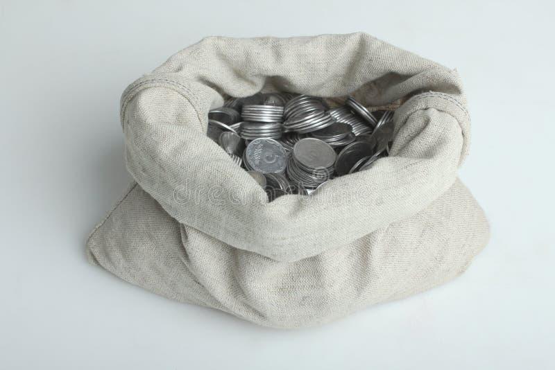 Bagful z pieniądze obrazy royalty free