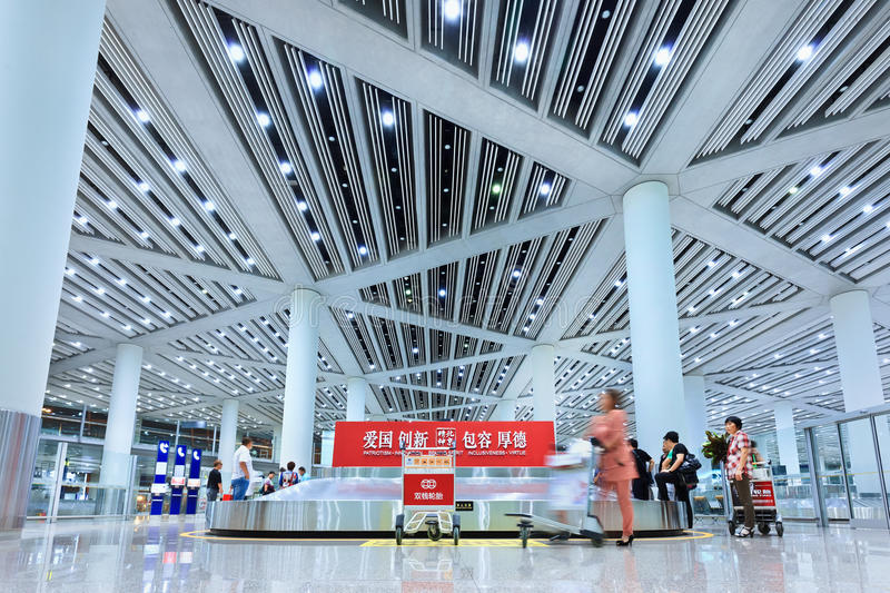 Baggage claim Beijing Capital Airport Terminal 3 stock photography