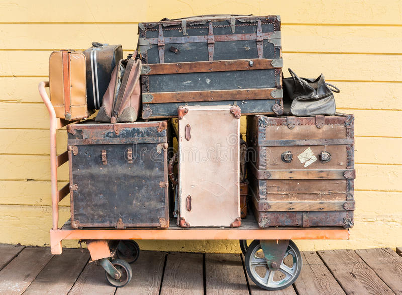 Baggage at the depot royalty free stock photo