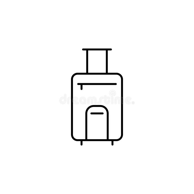 baggage icon. Element of simple icon for websites, web design, mobile app, info graphics. Thin line icon for website design and de royalty free illustration